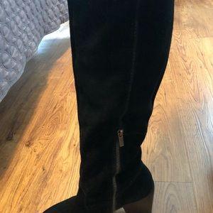 Size 10 Calvin Klein Black Suede Knee Boots